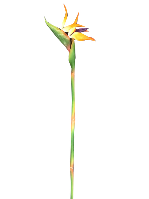artificial bird of paradise silk flower for home party wedding bouquet decors
