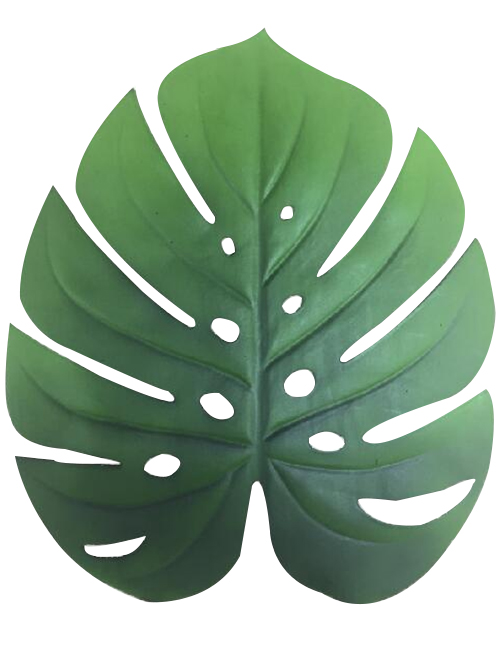 green leaf placemat 38.5x45.5cm