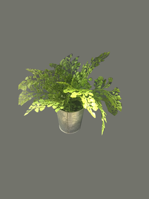 artificial leather fern with pot fake leather fern bush for home party office hotel outdoor garden deocrs