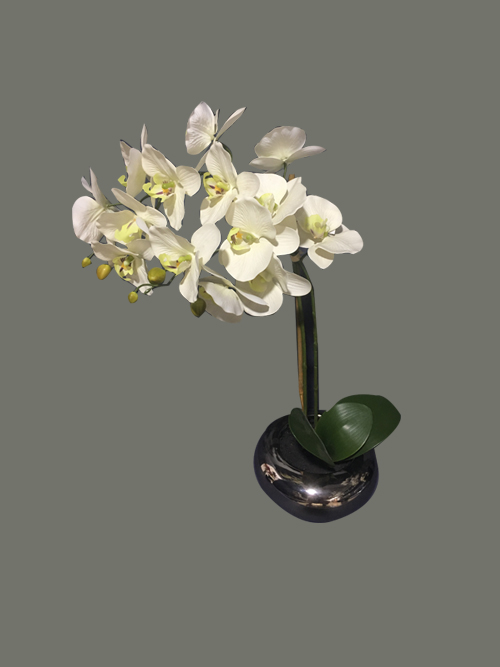 artificial orchid in pot for home office hotel wedding decors