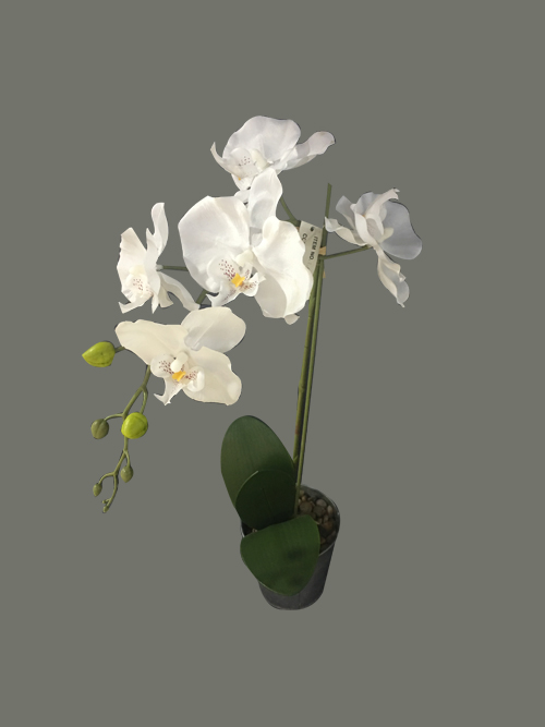 artificial orchid in pot silk orchid in pot fake orchid for home party wedding arrangements decors