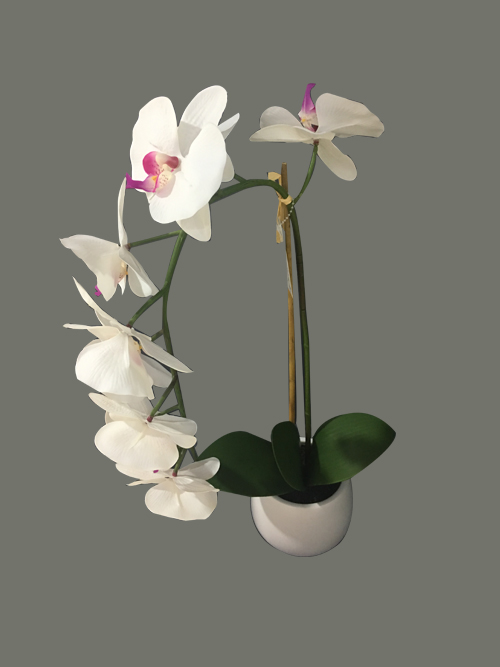 artificial orchid in pot silk orchid flowers fake orchid in pot for home party wedding arrangements decors